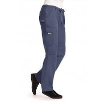 Petite-Comfort Rise Drawstring Elastic Scrub Pant,