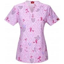 EDS V-neck Top -Breast Cancer