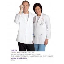 L203   UNISEX Half Length Lab Coat